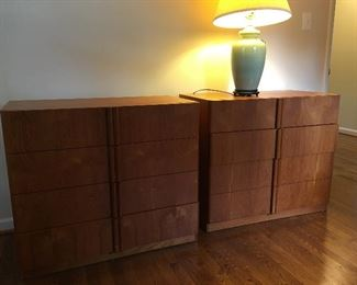 Two Additional Teak Bachelors Chests