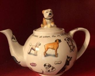 bull dog Dog tea pot