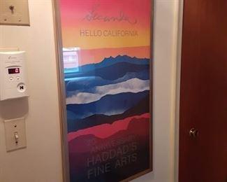 Colorful framed poster by Secunda
