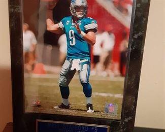 Matthew Stafford quarterback Detroit Lions photograph framed plaque