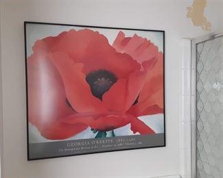 Georgia O'Keeffe framed poster