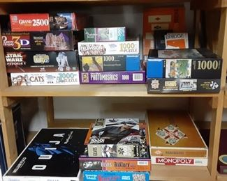 Games and puzzles and Ouija board