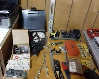 Power Drills, saws and bits