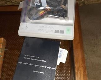 Vintage Electrocardiogram medical equipment machine