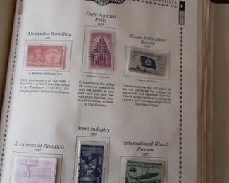 Vintage postage stamp album