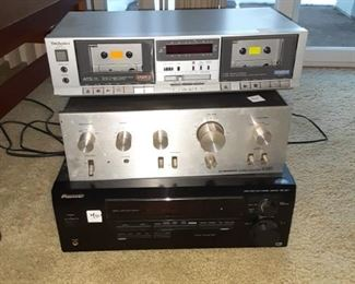 Vintage pioneer stereo equipment home theater 5 to 1 and Cosette dual player recorder