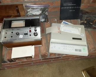 Vintage EKG electrocardiogram machines