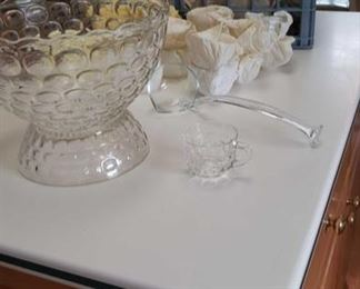 1242 Main Building Laundry Room Punch bowl w cups profile