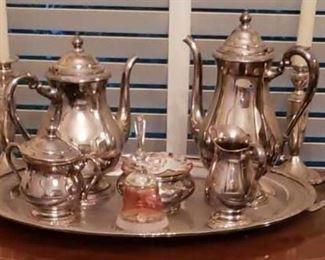 1360 Main Building Dining Room Silver Tea Set profile