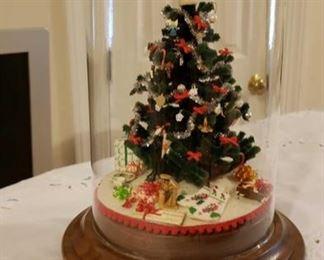 1734 Main Building Bathroom Upstairs Miniature Christmas Tree profile