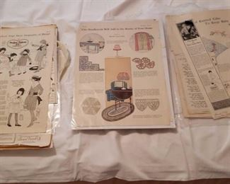 1790 Main Building Bedroom Upstairs Antique Magazine clippings profile