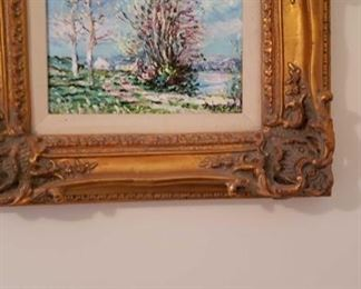 1808 Main Building Bedroom Upstairs Frame Oil Painting profile