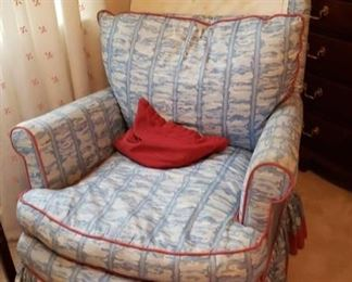 1889 Main Building Bedroom Upstairs Upholster chair profile