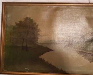 1918 Main Building Bedroom Closet Oil Painting profile