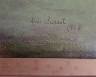 1924 Main Building Bedroom Closet Oil Painting Picture Note