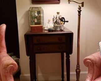 2003 Main Building Sitting Room Drop leaf Sewing table profile