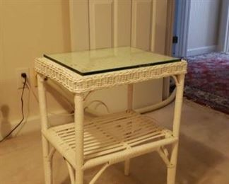 2045 Main Building Sitting Room Small Wicker Table profile
