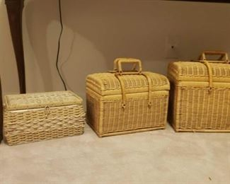 2057 Main Building Sitting Room 2 wicker trunks 1 sewing basket profile