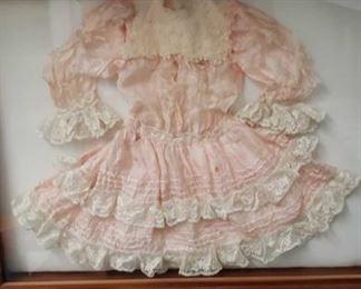 2245 Main Building Sitting Rm Closet Framed Doll Dress profile