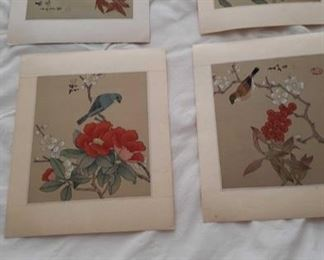 2323 Main Building Hall upstairs closet Silk Paintings profile