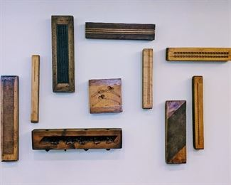 Antique Carved Wood Molds for Castings