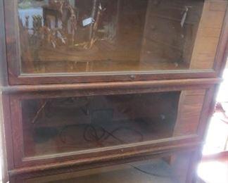 The Globe-Wernickle Co., 4-stack oak barrister bookcase.