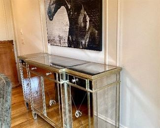 Z Gallerie Borghese mirrored cabinet