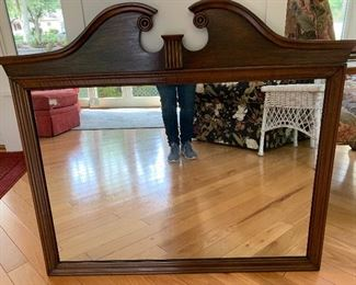Early American mirror - attaches to dresser