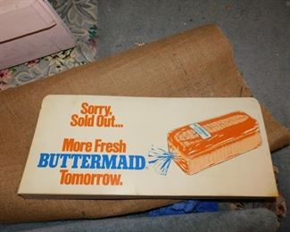 Plastic Buttermaid Bread Sign