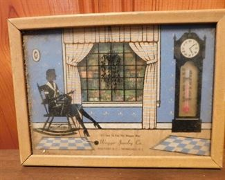 Advertising Silhouette Thermometer(Wagger Jewelry High Point, Thomasville, N.C.)