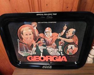 Coca Cola Georgia Bulldog Tray