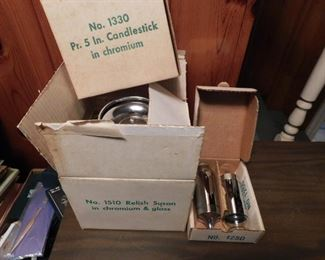 Milbern Mid-century Home and Kitchen Accessories in Original Boxes