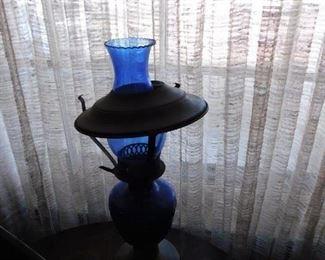 Cobalt Oil Lamp