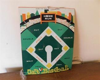 Tin Litho Dart Baseball Target Board