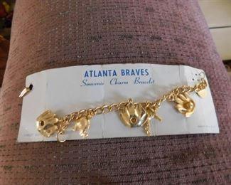 Vintage Atlanta Braves Charm Bracelet