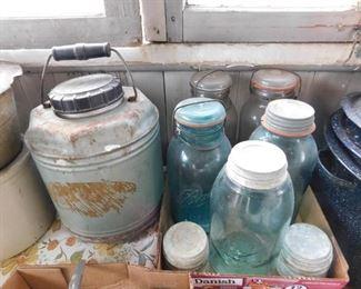 Blue Ball Jars
