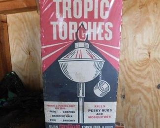Mid-century Tropic Torches in Box