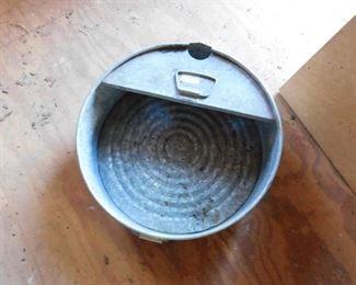 Old Galvanized Oil Pan