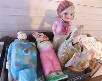 Old Chalkware Statues