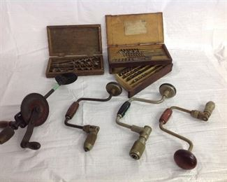 Antique brace and drills with bits