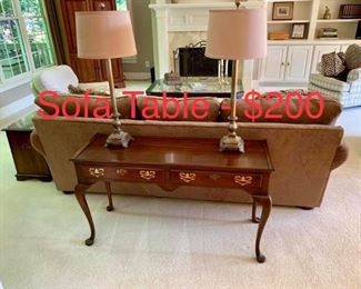 Sofa Table Cherry wood.  $200