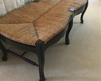 Antique Wicker Bench