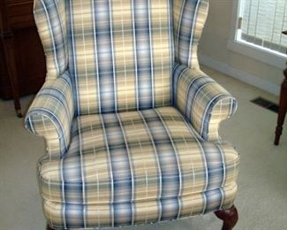 Sherrill  Queen Anne wing back chair.