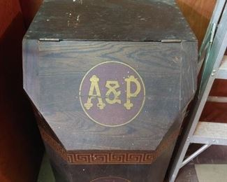 Vintage A&P Wooden Coffee Bin   NICE!