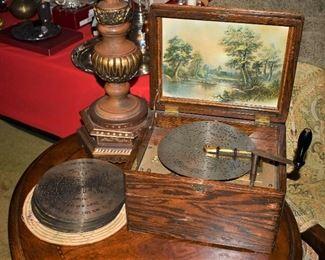 Regina Music Box with Discs