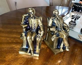 ABRAHAM LINCOLN BOOKENDS