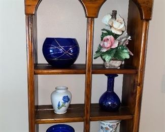 GLASS BOWLS / COBALT BLUE GLASS