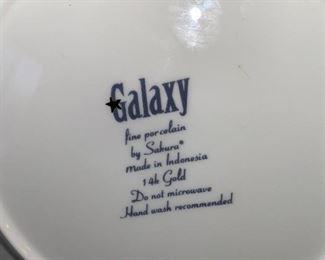 GALAXY FINE PORCELAIN PLATES