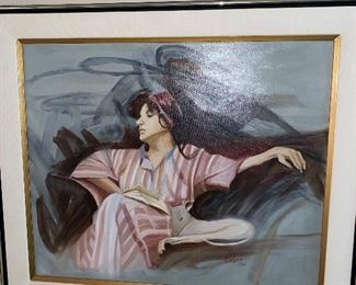 PAT LUGARI 1990 OIL ON CANVAS PAINTING