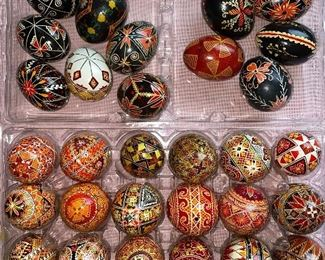 UKRAINIAN HAND PAINTED EASTER EGGS